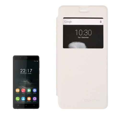 Horizontal Flip Leather Case with Call Display ID for oukitel K4000 (S-MPH-3900)(White)