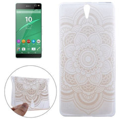 0.3mm Ultra-thin Flower Pattern TPU Protective Case for Sony Xperia C5 Ultra
