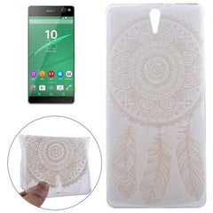0.3mm Ultra-thin Feather Cap Pattern TPU Protective Case for Sony Xperia C5 Ultra