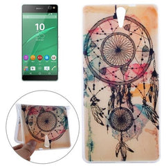 0.3mm Ultra-thin National Style Cap Pattern TPU Protective Case for Sony Xperia C5 Ultra