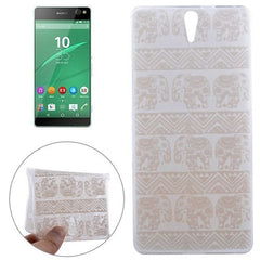 0.3mm Ultra-thin Elephant Pattern TPU Protective Case for Sony Xperia C5 Ultra