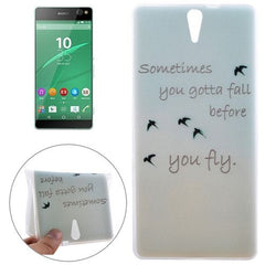 0.3mm Ultra-thin Birdies Pattern TPU Protective Case for Sony Xperia C5 Ultra