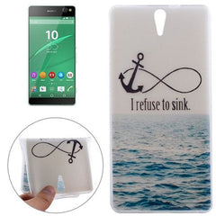 0.3mm Ultra-thin Anchor Pattern TPU Protective Case for Sony Xperia C5 Ultra
