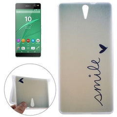 0.3mm Ultra-thin SMILE Pattern TPU Protective Case for Sony Xperia C5 Ultra