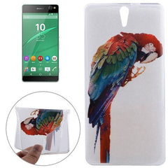 0.3mm Ultra-thin Parrot Pattern TPU Protective Case for Sony Xperia C5 Ultra