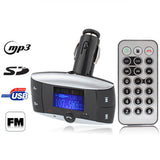 Car Bluetooth MP3 Player with FM Transmitter Support USB Flash Disk & SD / MMC Card(Black)