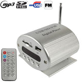 Aluminum Alloy Digital MP3 Player with Remote Control FM Radio Support SD Card / USB Flash Disk(Silver)