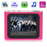 1.8 inch TFT Screen Metal MP4 Player with Clip & TF Card Slot Support Recorder FM Radio E-Book and Calendar (Magenta)