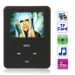 1.8 inch TFT Screen MP4 Player with TF Card Slot Support Recorder FM Radio E-Book and Calendar (Black)