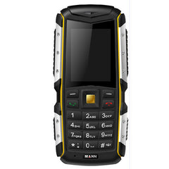 MANN ZUG S Phone Network: 2G Life Waterproof Dustproof Shockproof 2.0 inch MTK6260A Dual SIM(Yellow)