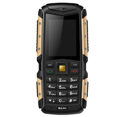 MANN ZUG S Phone Network: 2G Life Waterproof Dustproof Shockproof 2.0 inch MTK6260A Dual SIM(Gold)
