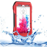 RIYO IP68 Waterproof Shockproof Dustproof Snowproof Protective Case with Lanyard for LG G3 / D850 / D851 / D855 / VS985 / LS990(Red)