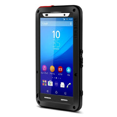 LOVE MEI Dustproof Shockproof Anti-fall proof Metal Protective Case for Sony Xperia Z3+(Black)