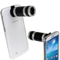 6X Zoom Lens Mobile Phone Telescope + Crystal Case for Samsung Galaxy Mega 6.3 / i9200