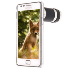 6X Zoom Lens Mobile Phone Telescope + Crystal Case for Samsung Galaxy S II / i9100