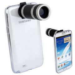 6X Zoom Lens Mobile Phone Telescope + Crystal Case for Samsung Galaxy Note II / N7100