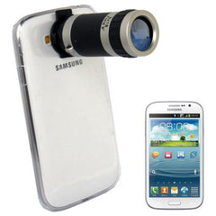 6X Zoom Lens Mobile Phone Telescope + Crystal Case for Samsung Galaxy Grand DUOS / i9082