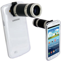 6X Zoom Lens Mobile Phone Telescope + Crystal Case for Samsung Galaxy Premier/ i9260