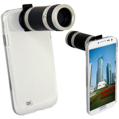 6X Zoom Lens Mobile Phone Telescope + Crystal Case for Samsung Galaxy S IV / i9500
