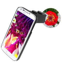 60-100X Zoom Digital Mobile Phone Microscope Magnifier with Plastic Case & LED Light for Samsung Galaxy S IV / i9500