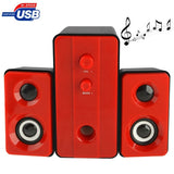 YX-201 2.1 Multimedia Speaker / Stereo Speaker with Volume Switch & Bass(Red)