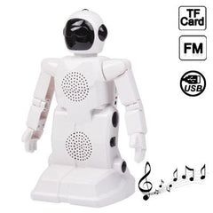 3 in 1 Multi-function Robot Speaker Support FM Radio / TF Card Function(White)