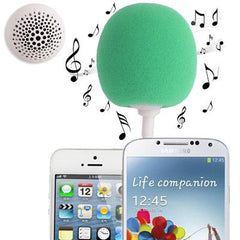 3.5mm Audio Dock / Mini Stereo Speaker Built-in Rechargeable Battery Suitable for All Devices with 3.5mm Audio Jack(Green)