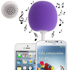 3.5mm Audio Dock / Mini Stereo Speaker Built-in Rechargeable Battery Suitable for All Devices with 3.5mm Audio Jack(Purple)
