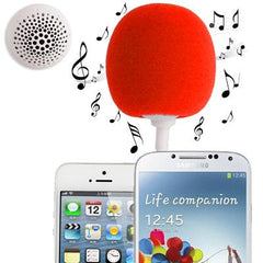 3.5mm Audio Dock / Mini Stereo Speaker Built-in Rechargeable Battery Suitable for All Devices with 3.5mm Audio Jack(Red)