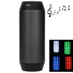 AEC BQ-615 Pulse Portable Bluetooth Streaming Mini Speaker with Built-in LED Light Show & Mic(Black)