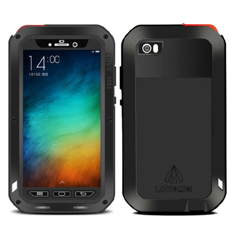 LOVE MEI Dustproof Shockproof Anti-fall proof Metal Protective Case for Xiaomi Mi Note(Black)