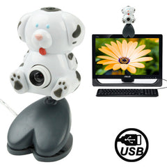 USB 2.0 Cartoon Stain Dog Style 0.48 Mega Pixels Driverless PC Camera / Webcam Cable Length: 1.2m