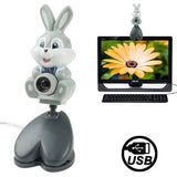 USB 2.0 Cartoon Rabbit Style 0.48 Mega Pixels Driverless PC Camera / Webcam Cable Length: 1.2m
