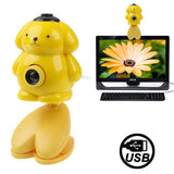 USB 2.0 Cartoon Yellow Bear Style 0.48 Mega Pixels Driverless PC Camera / Webcam Cable Length: 1.2m