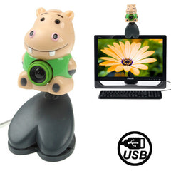 USB 2.0 Cartoon Hippo Style 0.48 Mega Pixels Driverless PC Camera / Webcam Cable Length: 1.2m