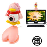 USB 2.0 Cartoon Penguins Style 0.48 Mega Pixels Driverless PC Camera / Webcam Cable Length: 1.2m