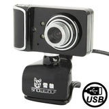 Camera Style 16.0 Mega Pixels USB 2.0 Driverless PC Camera  / Webcam with MIC Cable Length: 1.5m(Black)