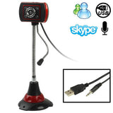 5.0 Mega Pixels USB 2.0 Driverless PC Camera / Webcam with MIC and 4 LED Lights Cable Length: 1.2m