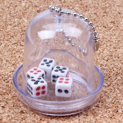Mini 5 Dices with Dice Rollers Keychains