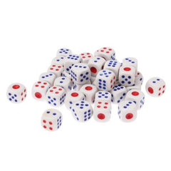 40 PCS Gaming Dice Set for Leisure Time Playing Size: 11mm x 11mm x 11mm(White)