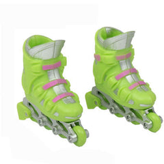 Mini Pulley Detachable Single  Four-wheel Skates Children Toys/Finger Toys(Green)