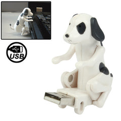Funny Cute USB Humping Spot Dog Stress Relieving Gift Toy (White)