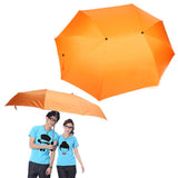 Couple Umbrella & Double Umbrella Large Wind Sunny Umbrella Family Necessary(Orange)