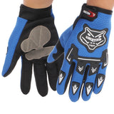 KONGHTIHOD Full Finger Motorcycle Riding Protective Gloves (Blue)