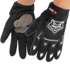 KONGHTIHOD Full Finger Motorcycle Riding Protective Gloves (Black)