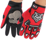 KONGHTIHOD Full Finger Motorcycle Riding Protective Gloves (Red)