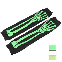 Skull Hand Bone Long Knitted Gloves / Suncare Protection Gloves (Random Color Delivery)
