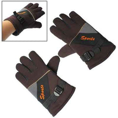 Splicing patterns Protection For Outdoor Sports Gloves (Coffee)