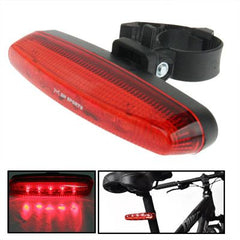 5 LED Strobe Bicycle Taillights with 4 Kinds of Light-emitting Mode