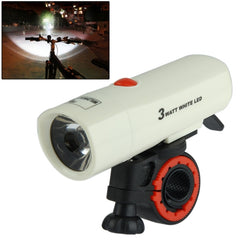 1 LED Safety Light Bike Head Flash Light with Mount Bracket(White)